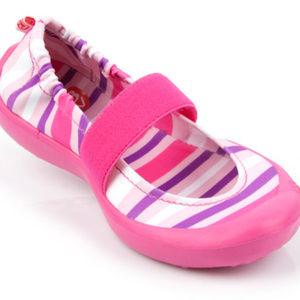 Toddler Pink Stripe Waterproof Slip On Shoes